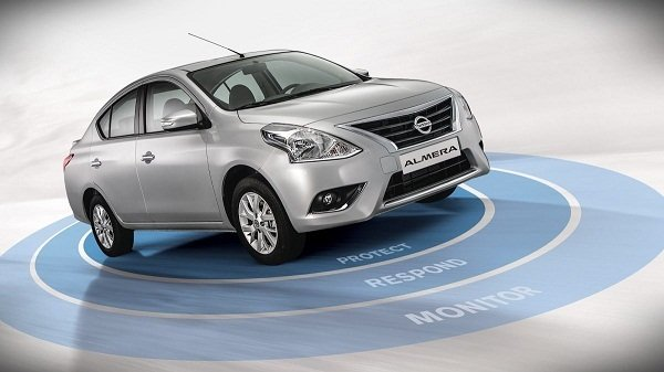 Nissan Almera safety system