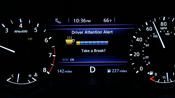 Drowsy driving warning system