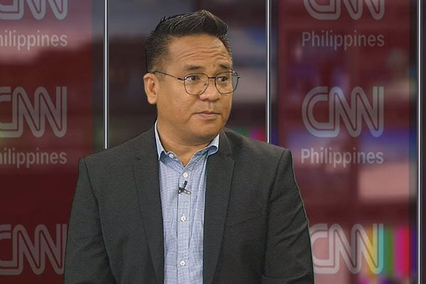 A picture of Bong Nebrija during an interview with CNN