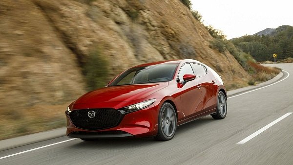 Mazda 3 2019 on the road