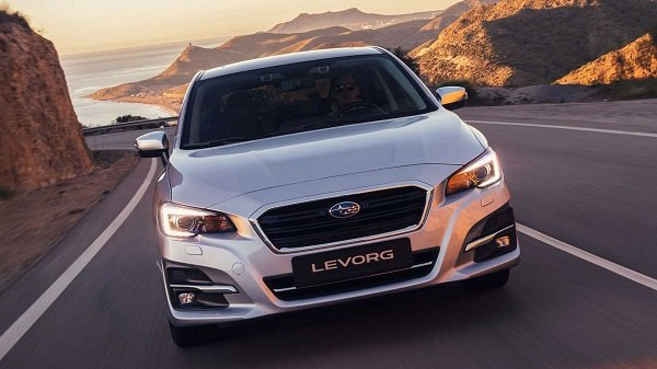 A shot of the Subaru Levorg 2019 on the road