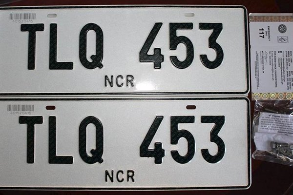 A picture of a pair of plate numbers