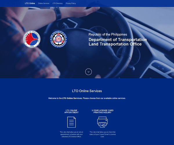 lto vehicle registration check online via website