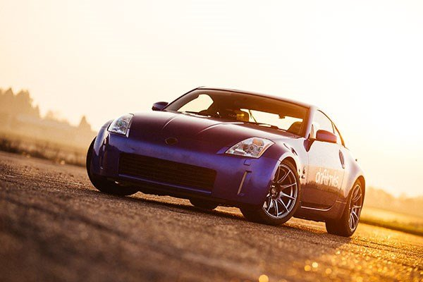 Nissan 350z in the sunset