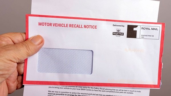 Mail recalling cars