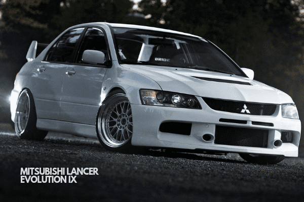 Lancer Evolution IX on display