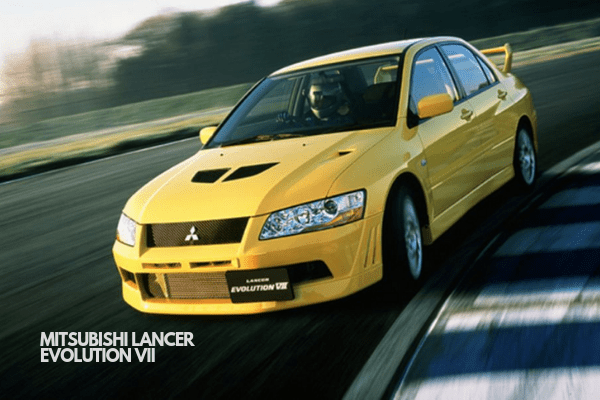 Lancer Evolution VII on the Road