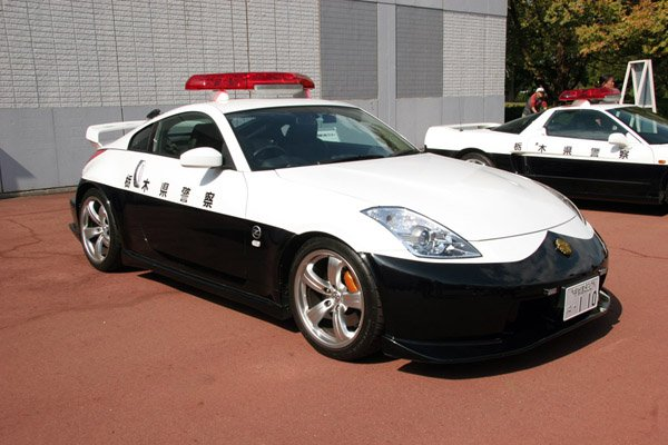 Nissan 350Z Police Car on the Road