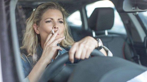 Smoking inside the car