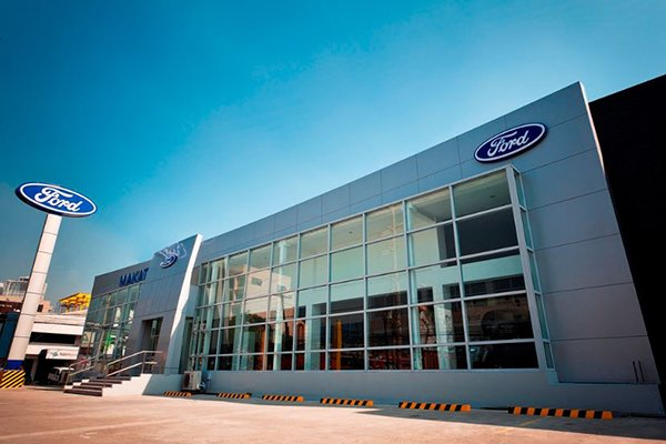A picture of the Ford dealership in the Philippines