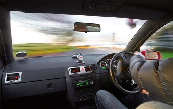 car speeding up