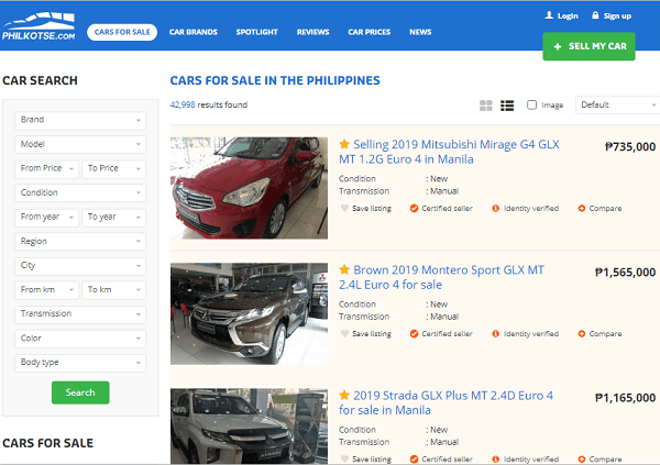 Car for sale on Philkotse.com