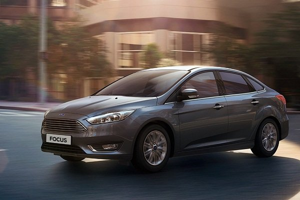 A picture of the sedan version of the Ford Focus