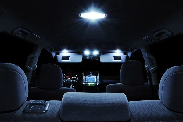 Dome lights in the car interior