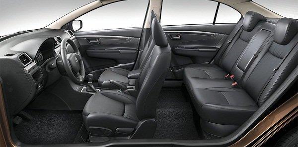 suzuki ciaz interior - rear passenger seat