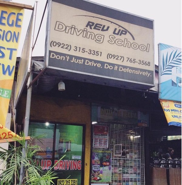 A picture of the Revup driving school office