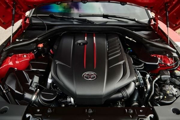 Powering the Supra is BMW-sourced 3 liter twin-turbo B58B30 inline-6
