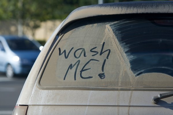 Dusty car window