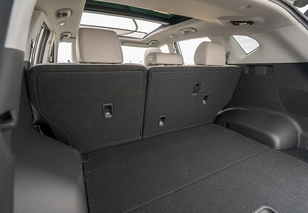 A picture of the very wide trunk space of the 2019 Hyundai Tucson