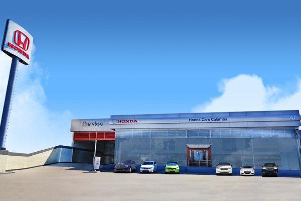 A picture of a well designed Honda dealership in Calamba, Laguna