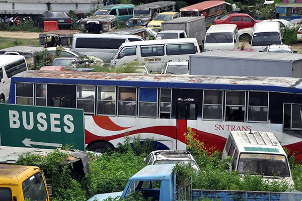 A picture of impounded vehicles in the Philippines