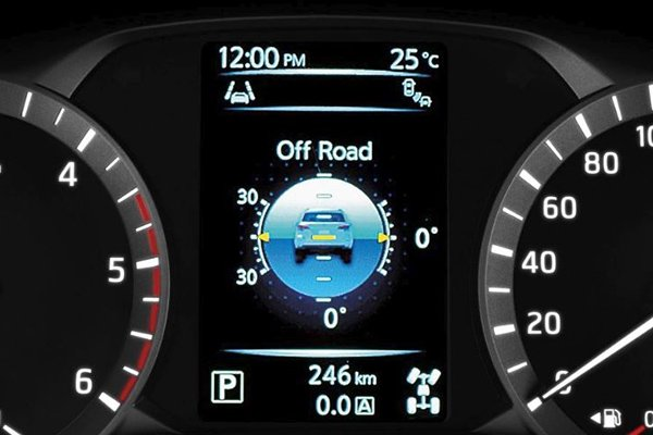 4x4 angle sensors on the Nissan Terra 2020