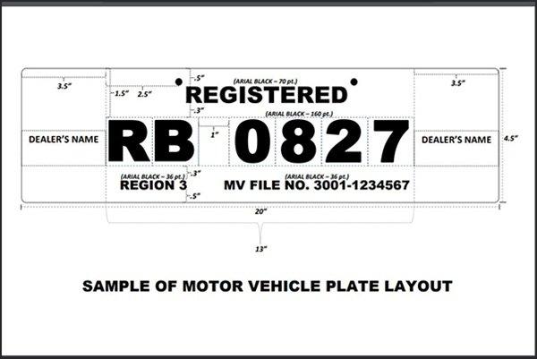 Plate number design philippines