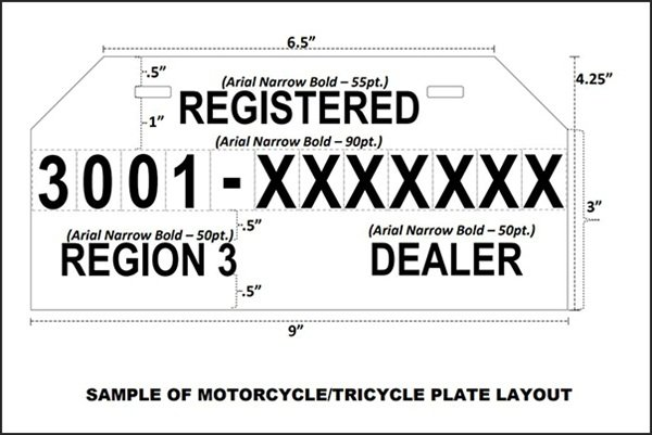 image relating to Printable Temporary License Plate Template referred to as Short-term Plate Amount Philippines: LTO Suggestions other