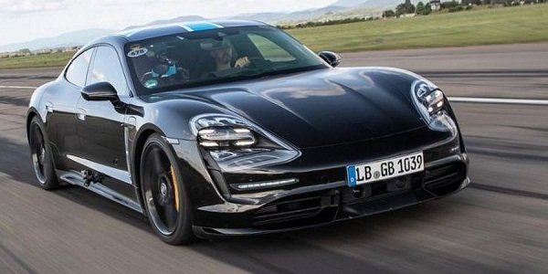 A picture of the Porsche Taycan EV