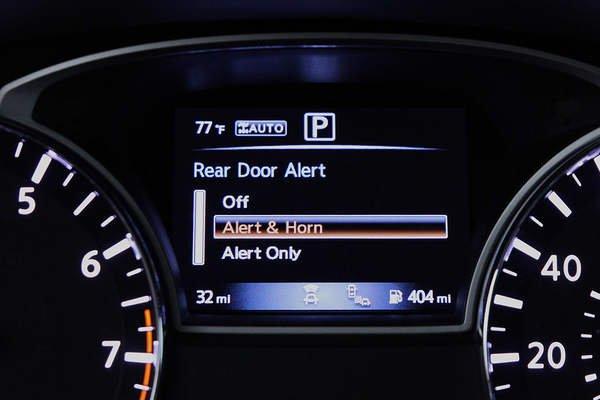 Rear door alert system