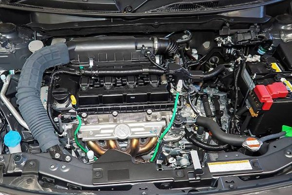 A picture of the 2020 Suzuki Swift's 1.2 liter engine