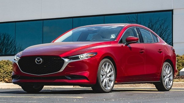 A picture of the front of the 2020 Mazda 3