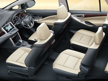 "The Toyota Innova interior has been ""innovated"" to suit all rides you take"