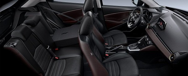 A picture of the rear passenger seat of the 2019 Mazda 2