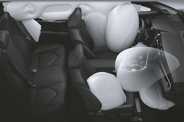 Toyota Camry with airbags system