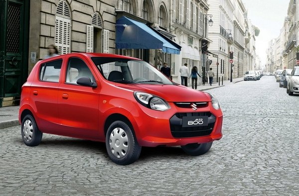 A picture of a red 2019 Suzuki Alto