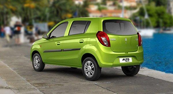 A picture of the rear of a 2019 Suzuki Alto