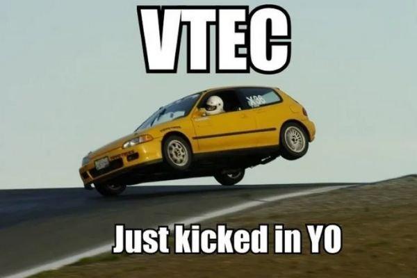 Car going on full throttle