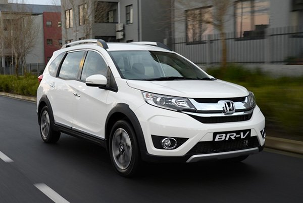 A picture of a white 2019 Honda BR-V