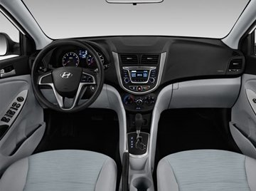 The dashboard layout is arranged like the T-bar of the Hyundai Elantra