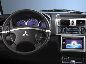 Mitsubishi Adventure interior is closely akin to its exterior when it comes to old-school design