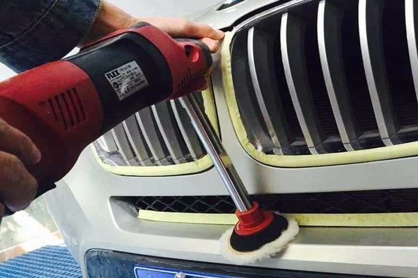 Cleaning the car using a rotary tool