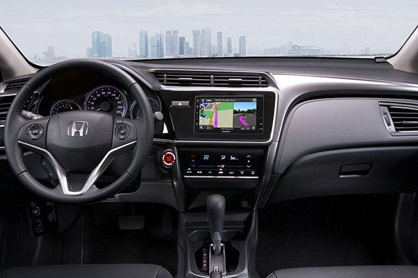 A picture of the 2019 Honda City's interior front cabin
