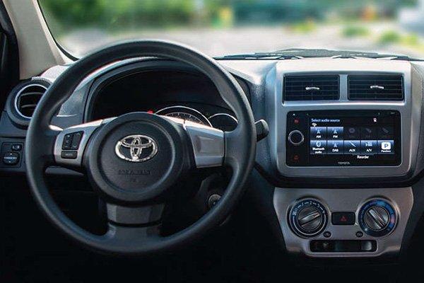 2019 Toyota Wigo steering wheel and dashboard