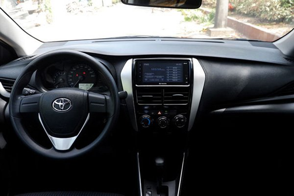 A picture of the 2019 Toyota Vios's interior