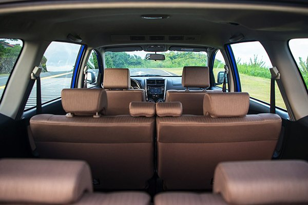 A picture of the 2019 Avanza's interior viewed from the trunk