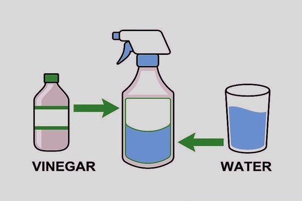 Water and vinegar mixture