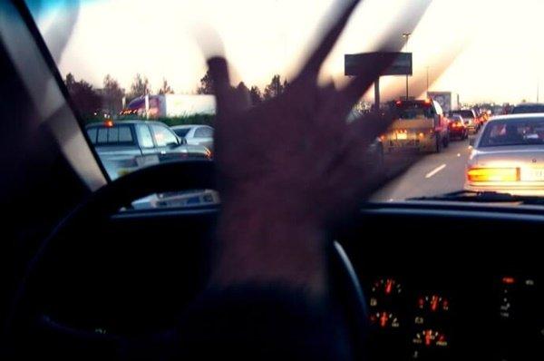 traffic jam and road rage