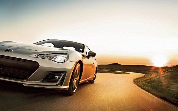 2020 Subaru BRZ on the road