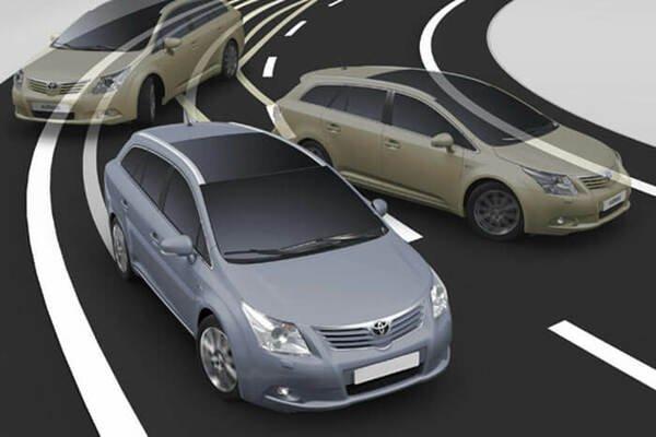 Skidding vehicle illustration